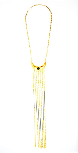Fierce & Free Gold Fringe Necklace