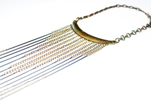 Drifter Chain Arrow Fringe Necklace