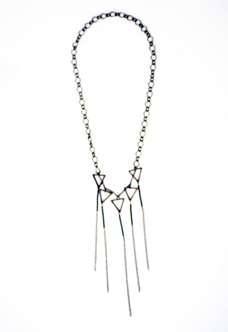 Day Dreamer Triangle Fringe Necklace