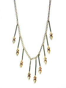 Wanted Bullet Fringe Necklace