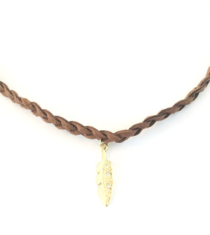 Wild One Feather Choker Necklace