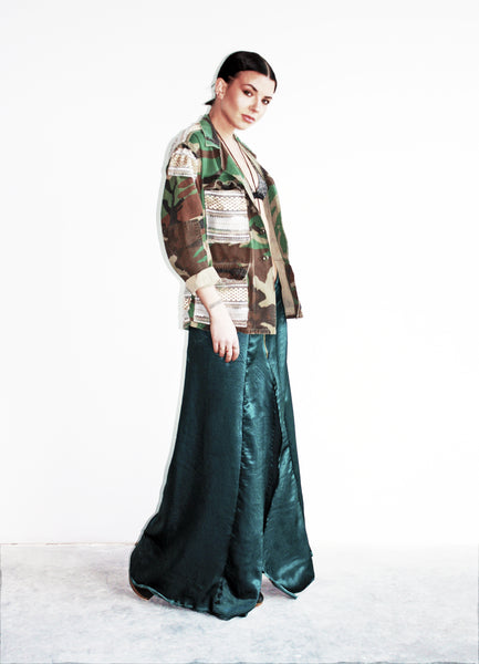 Untamed Emerald Maxi Skirt
