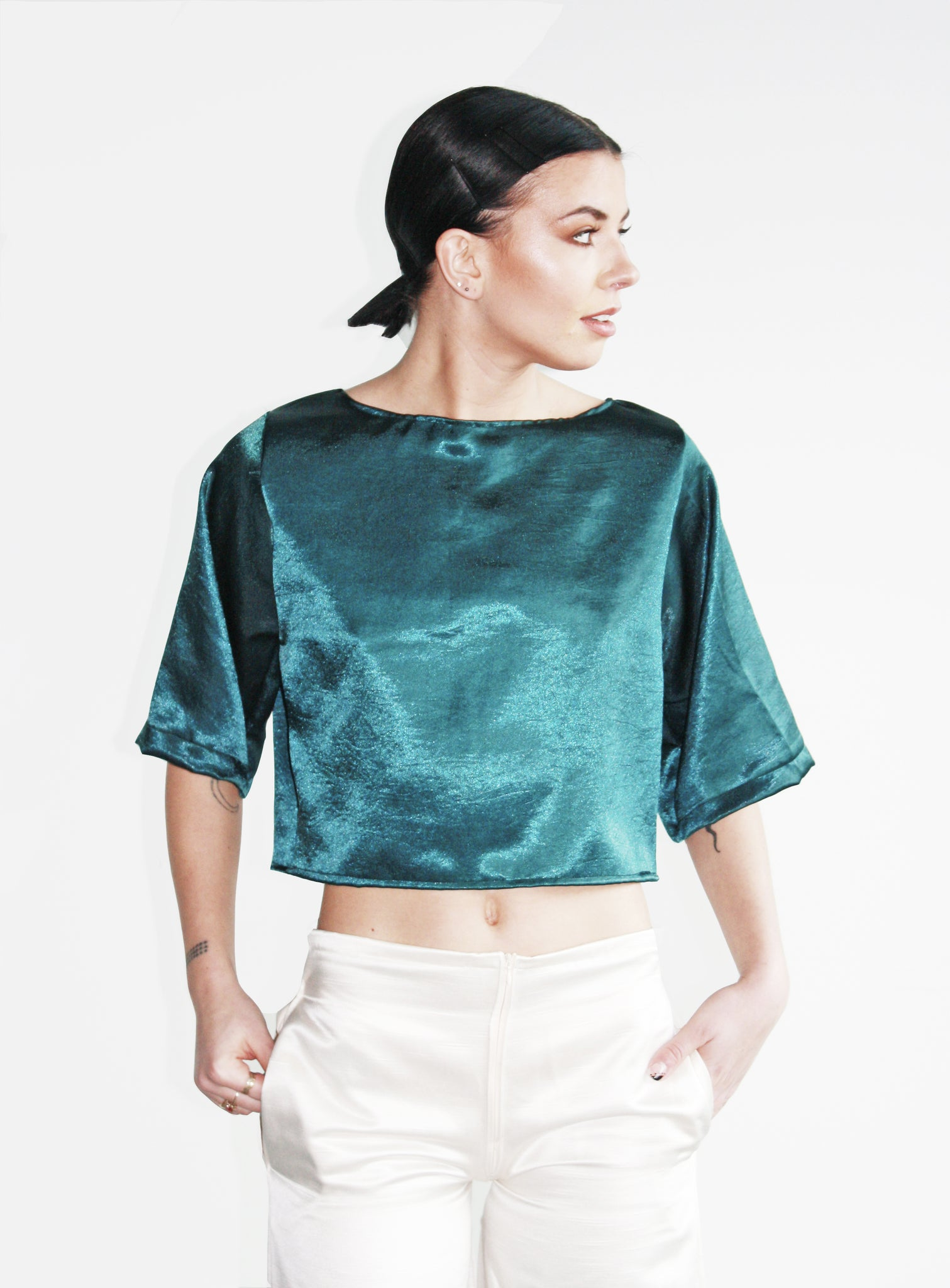 Untamed Open Back Cropped Top