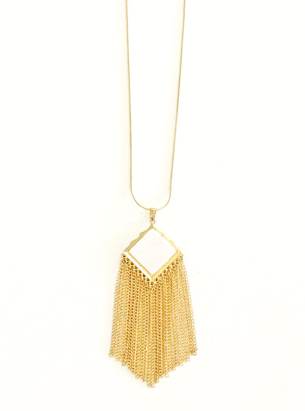 Wanderer Stone Fringe Necklace