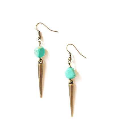 Wild Thrill Turquoise Spike Earrings