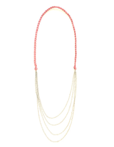the damsel braided leather chain necklace