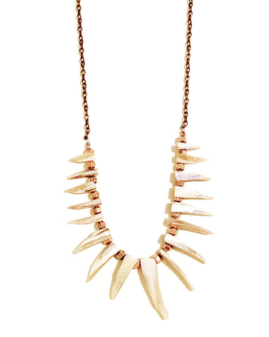 Ocean Soul Shell Fringe Necklace