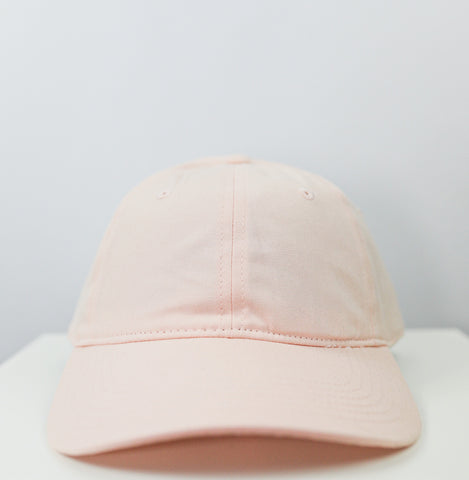 Logo 6 Panel Dad Hat (Light Pink)