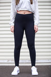 Lycra High-Waist Leggings (Black)