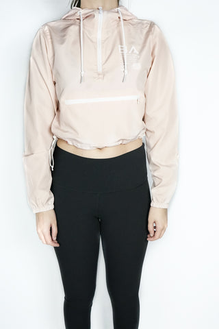 Active Print Crop-Top Windbreaker ( Light Pink )