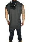 "Mesh Cut-Off Hi/Low Hoodie ""Performance Series"""