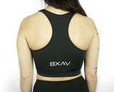 Front Zip Racerback Sports Bra ( Black ) *Green