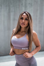 Cross Body Sports Bra (Lavender)