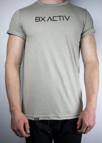 BX ACTIV Rolled Sleeve Tee (Olive)