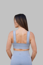 Mineral Wash Sports Bra (Light Blue)