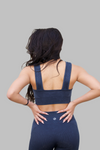 Mineral Wash Sports Bra (Midnight)