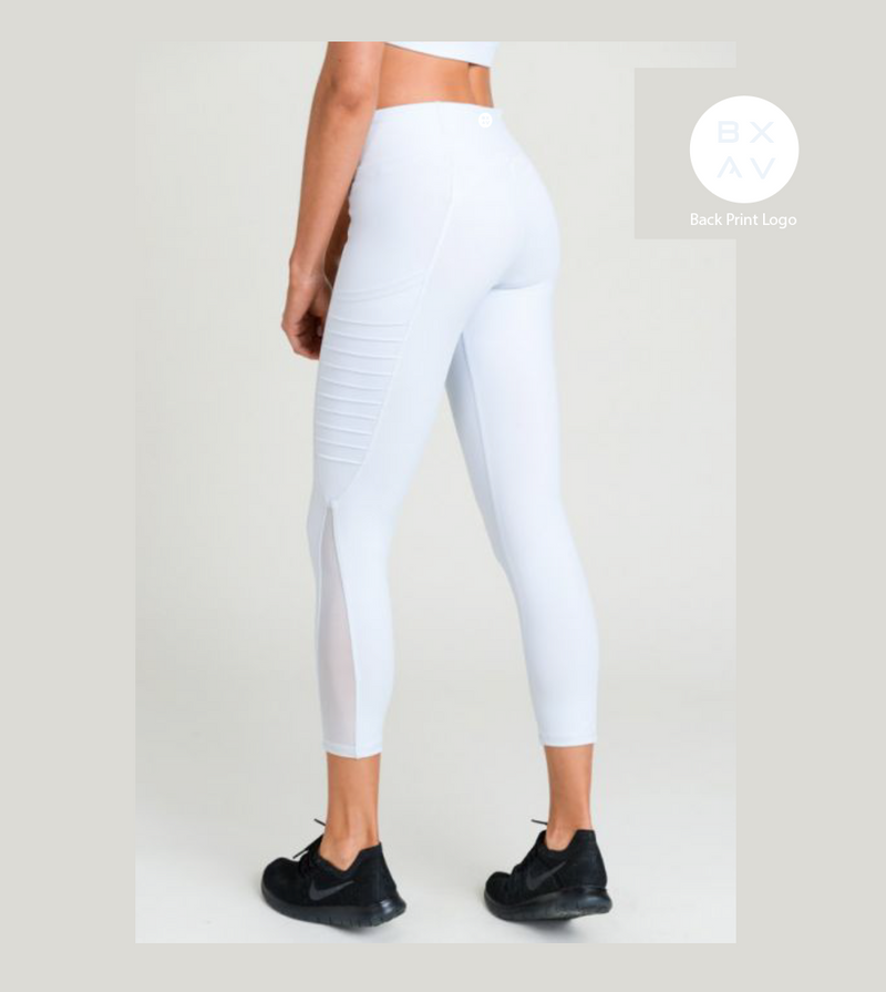 Sky Blue Moto Pocket Leggings