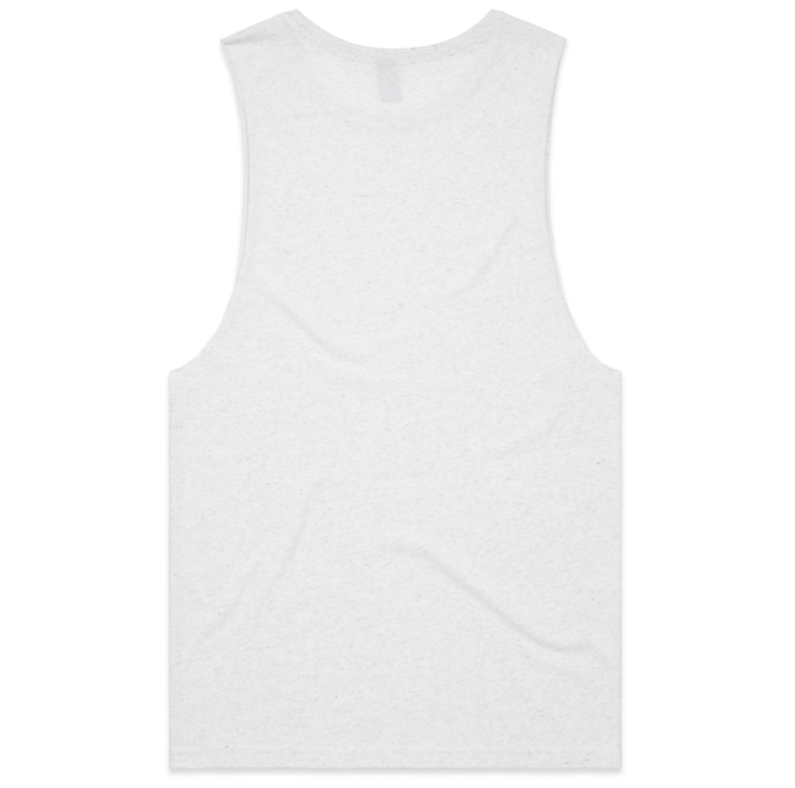 Brand Print Cut-Off (Heathered White)
