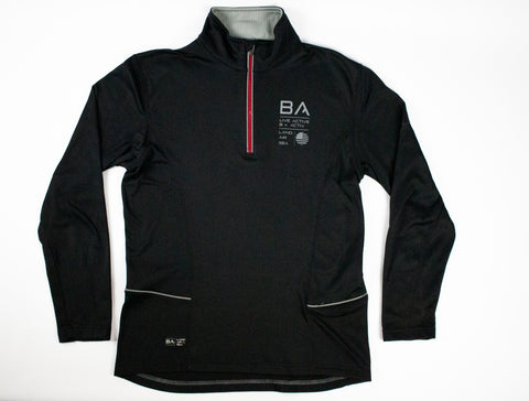 1/4 Zip Trek Jacket (Black)