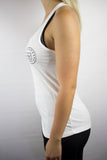 Womens All Star Racerback (White/Black)