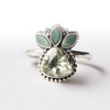 Emerald & Peridot Trillion Ring