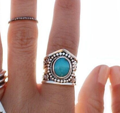 Navajo turquoise Cocktail Ring - donbiujewelry  - 2