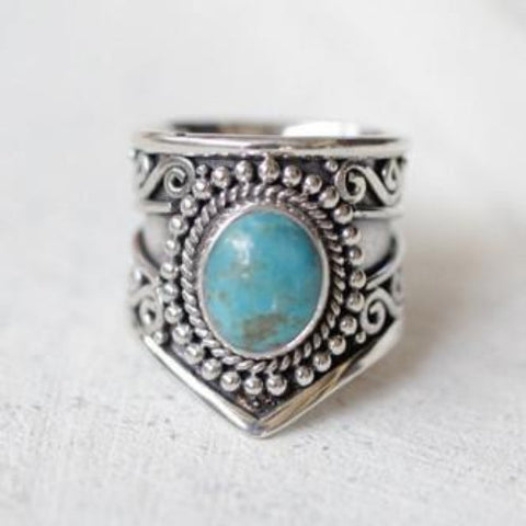 Bohemia - Navajo turquoise Cocktail Ring