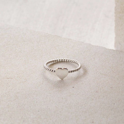 Tiny Silver Heart Ring - donbiujewelry  - 2