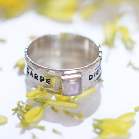 Hand Hammered, Personalised Unisex Ring - donbiujewelry  - 1