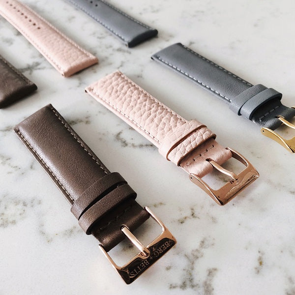 ethically made watch straps in three colours
