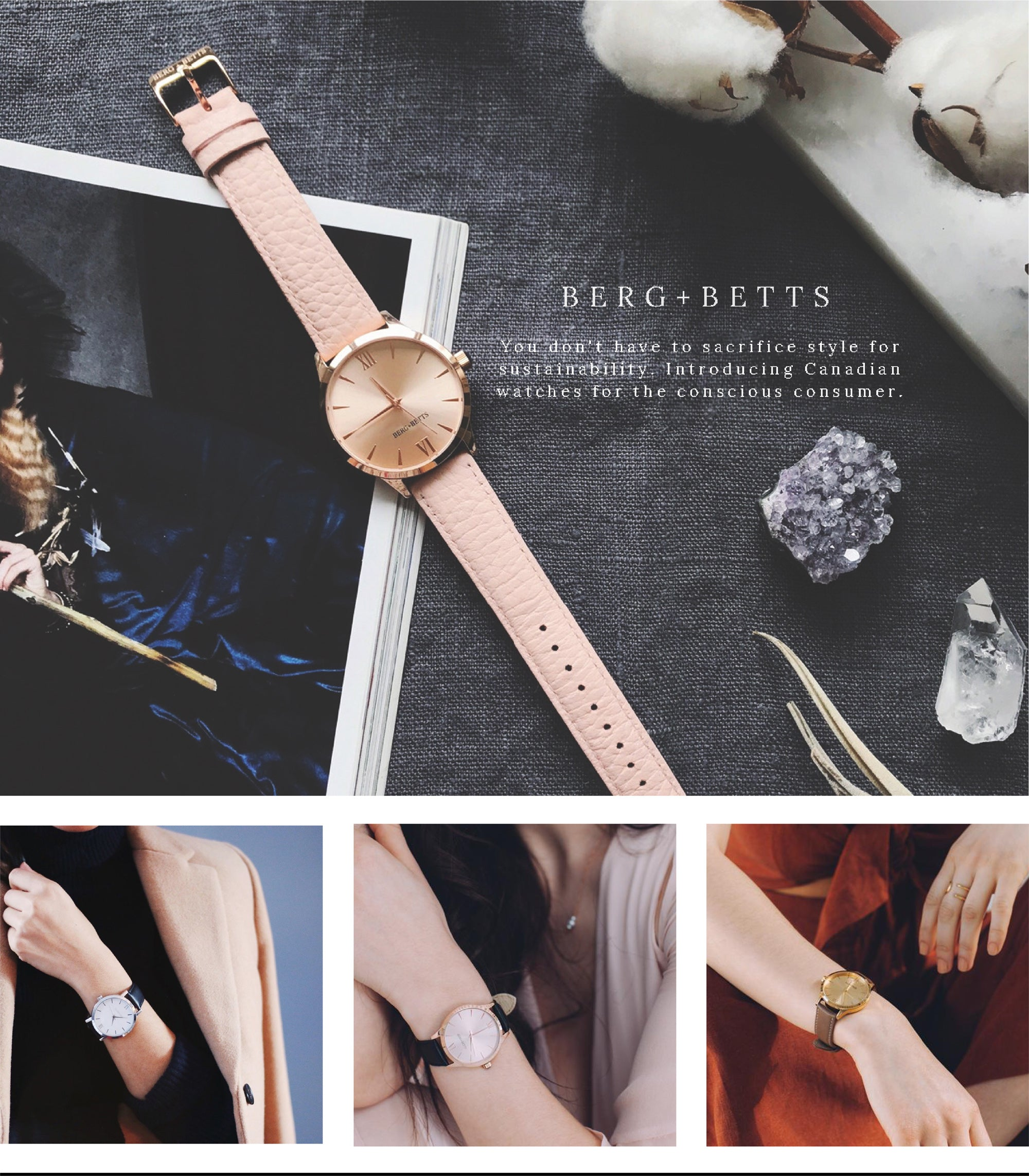 Berg + Betts | Learn how you can carry our sustainably made in Canada watches