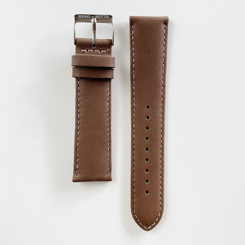 20mm Strap Brown and Silver