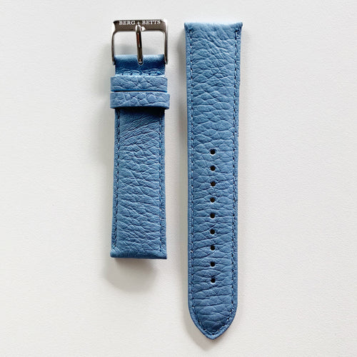 Strap 20mm Light Blue and Silver