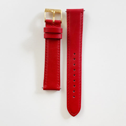 Strap 18mm Coral Pink and Gold