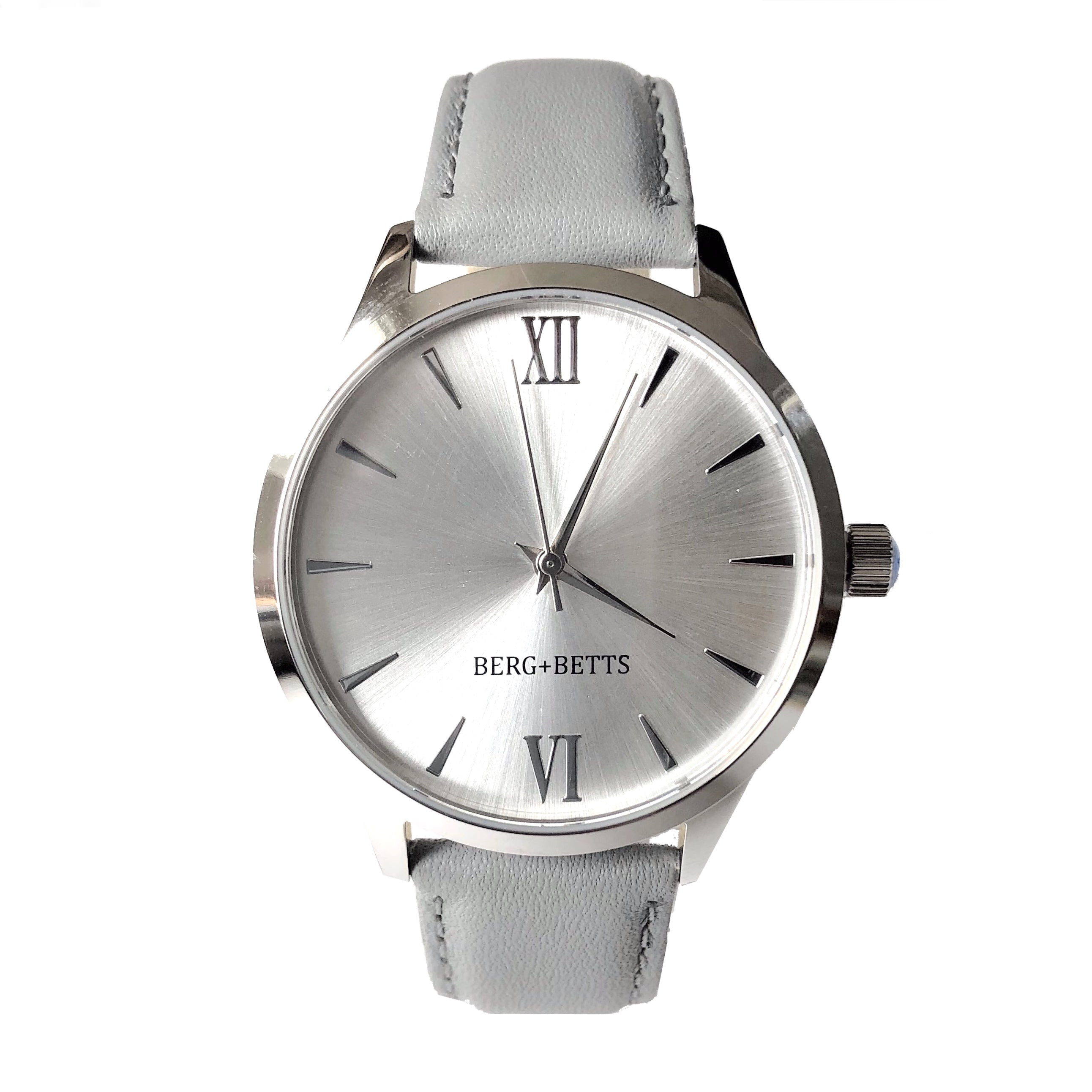 BERG + BETTS | Ethically made Silver watch with sustainable black strap