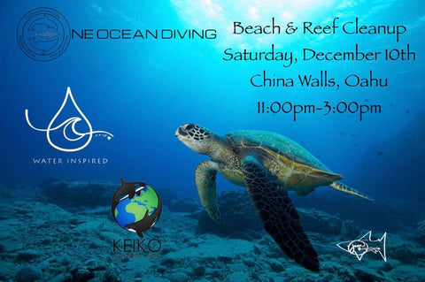 beach clean up hawaii one ocean designs thessalonike collection clark little natalie parra siena schaar keiko conservation rooney the giant hamster dog water inspired one ocean diving ocean ramsey juan oliphant tracy mullen ashley schreiner