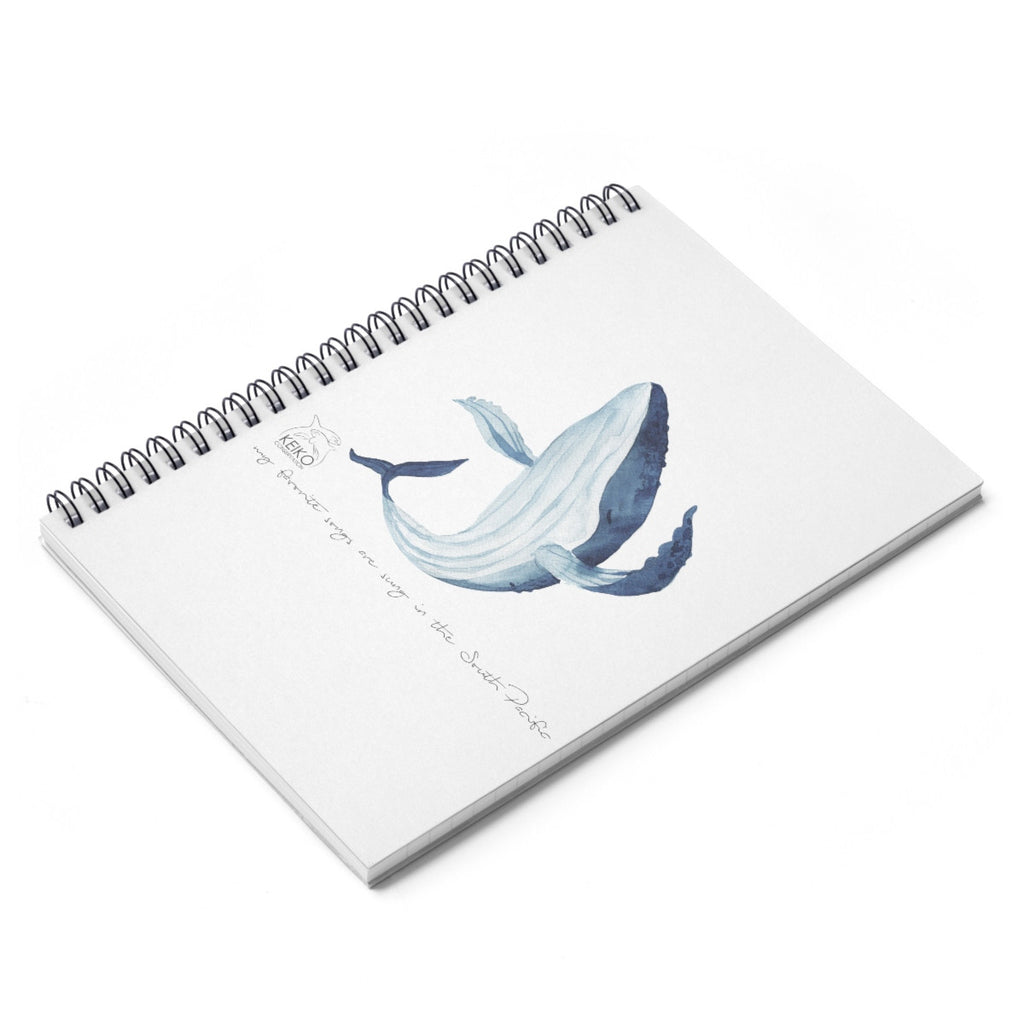 Whale Songs Notebook - Keiko Conservation