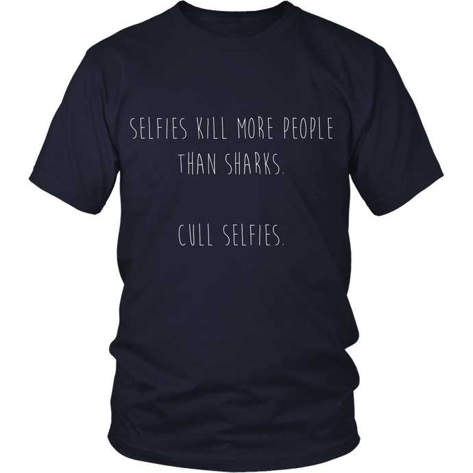 Cull Selfies Not Sharks Tee MORE COLORS - Keiko Conservation