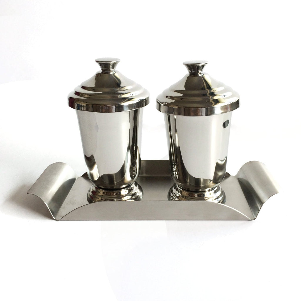 Maharaja Stainless Steel Glasses with Stainless Steel Tray - Hot Muggs - 1