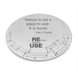 Refuse Single Use coasters