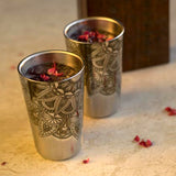 Hot Muggs Stainless Steel Sharbat Glass, Set of 4