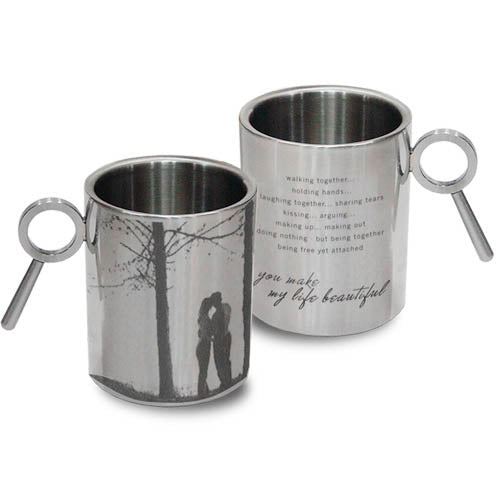 My Mrs. Always Right Stainless Steel Double Walled Mug, 265ml, Silver
