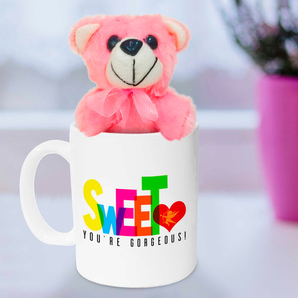 CutiePie, you're irresistibile! Mug with Teddy,Ceramic,350ml
