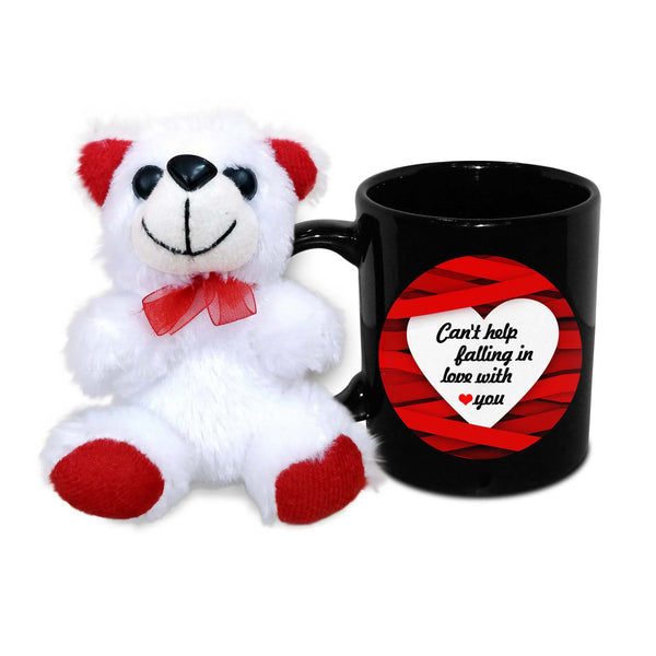 Can't help falling in love with you Mug with Teddy - Hot Muggs - 1