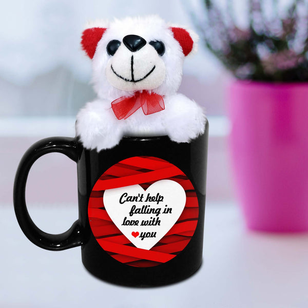 Can't help falling in love with you Mug with Teddy - Hot Muggs - 2