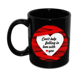 Can't help falling in love with you Mug with Teddy - Hot Muggs - 3