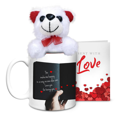 Floral Poem Mug with Teddy & Card - Hot Muggs - 1