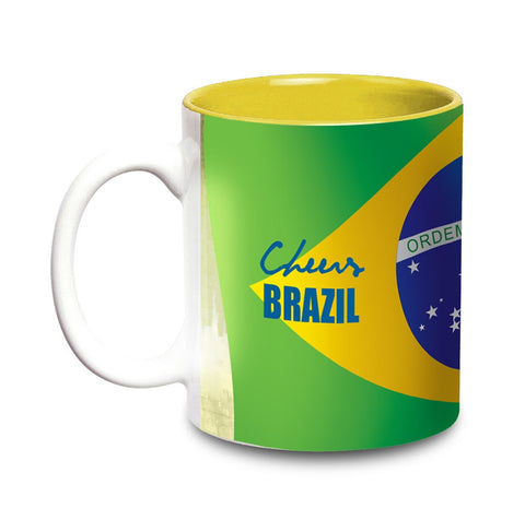 Live The Sport - Flags Mug - Cheers Brazil