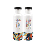 Geom Fridge Stainless Steel Water Bottles, 750 ml, Set of 2