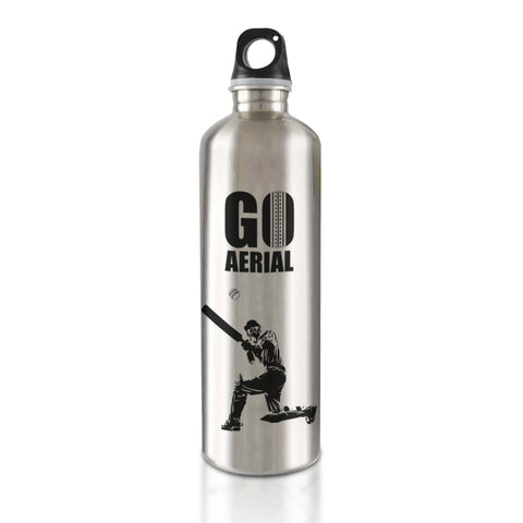 Live the Sport : Cricket - Go Aerial Stainless Steel Bottle